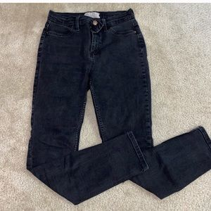 Free People High Waisted Black Skinny Jeans